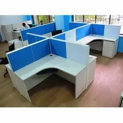 Plpb Custom Modular Office Workstation, Size: 5' X 5' Ft