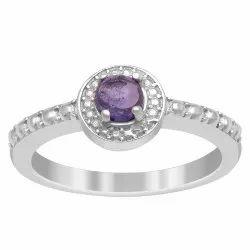 AAA Deep Blue Tanzanite 0.25 Ctw Gemstone 925 Sterling Silver Women Wedding Ring