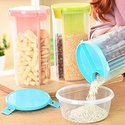 3 In 1 Transparent Sealed Cans Kitchen Sealed Jars Plastic Storage Bottles Storage Box
