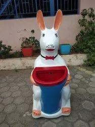 Rabbit Waste Bin Fibre Glass