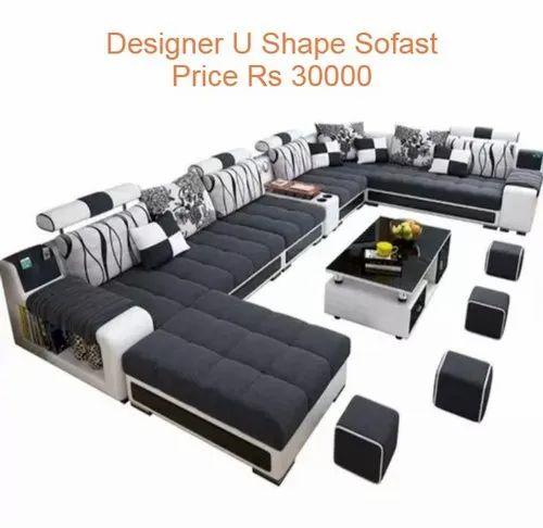 Modern Designer U Shaped Sofa Set Rs, Best Sofa Set Under 30000