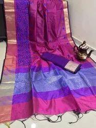 Wedding Wear Multicolor Designer Silk Saree, 0.80 Meter, 6.3 m (with blouse piece)