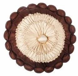 Brown And Cream Round Cushion Cover