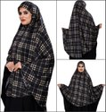 Cotton Lycra Stitched Instant Namazi Chaderi Hijab Makhna