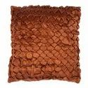 Designer Brown Satin Handmade Cushion Cover