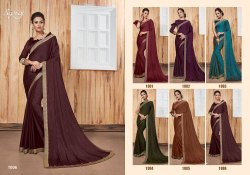 Elegant Party Wear Georgette Satin Patti Saree