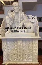 24 Inch White Marble Sai Baba Statue
