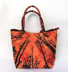 Indian Consigners Printed Forest Tree Throw Ladies Shoulder Bags, For Casual Wear, Size: M