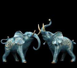 Fiberglass Live Size Elephant Statue