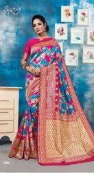 Fancy Designer Lichi Silk Jacquard Saree