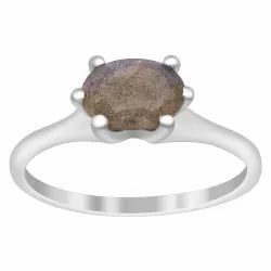 Stackable 925 Sterling Silver Oval 1.50 Ct Labradorite Gemstone Women Stack Ring