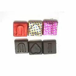Valentina Rectangular I Love You Dark Square Shape Chocolate