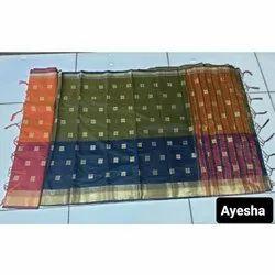 Wedding Wear Silk Jacquard Saree, Handwash, Saree Length: 6.3 m (with blouse piece)