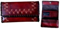 Handmade Leather Ladies Trifold Wallet