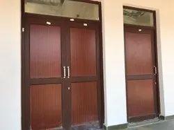 Powder Coated Aluminium Door, Thickness: As Size Available