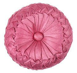 Designer Baby Pink Satin Cushion Cover