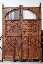 Architectural Carved Old Front Door