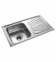 AMC Single Bowl SS Drain Board Sink