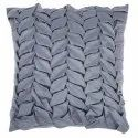 Grey satin handcrafted cushion cover