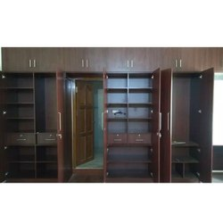 MPIC Brown Modular Wooden Wardrobe