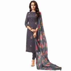 Unstitched Embroidered Silk Suits Material