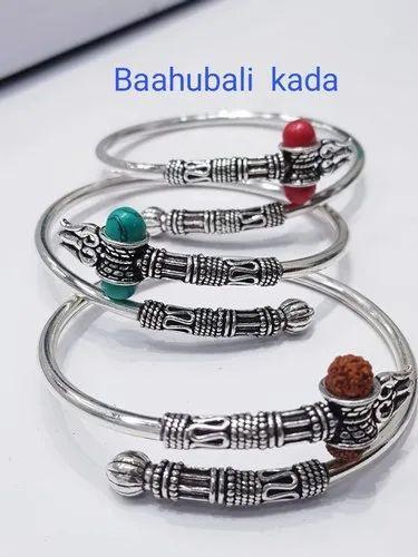 92.5 Oxidized Silver Bahubali Bangle