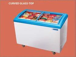 551 Litre Curved Glass Top Deep Freezer