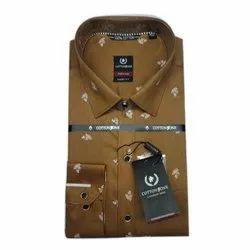 Cotton Zone Men Printed Casual Wear Shirt, Size: S-XXL