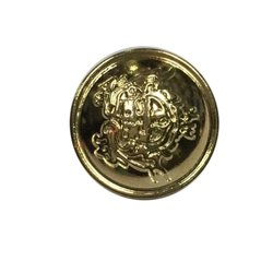 Metal Golden Coat Button, Size/Dimension: 18 Mm