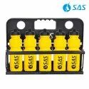 Collapsible Water Bottle Carrier For 10 Bottles (With 10 Yellow Bottles)