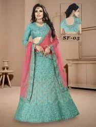 Ethnic Bollywood Dulhan Work Silk Lehenga Choli