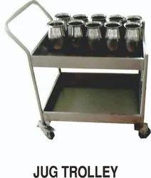 Stainless Steel Jug Trolley