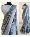 Shree Indian Exports Designer Linen Saree