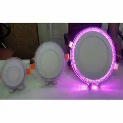 12 W Multi Colour Round Panel Light, For Indoor