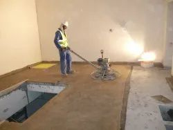 Corporate Building Epoxy Floor Screeding Services, For Indoor, Chemical Resistant