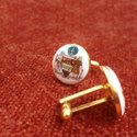 Mayo College Hand Painted Coat Of Arms Cufflinks In Silver And Enamel
