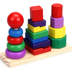 Geometric Stacker Educational Toy