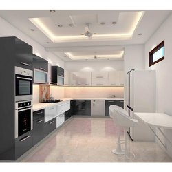 Classic,Modern L Shaped Modular Kitchen
