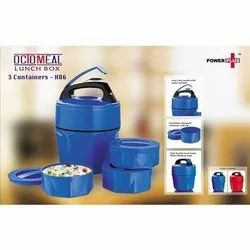 Plastic Blue Octomeal Lunch Box, 3 Container