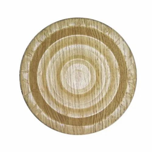 Brown Plain 6 Inch Mica Paper Plate, Paper GSM: 350 - 400, Rs 30 /packet   ID: 22570489512