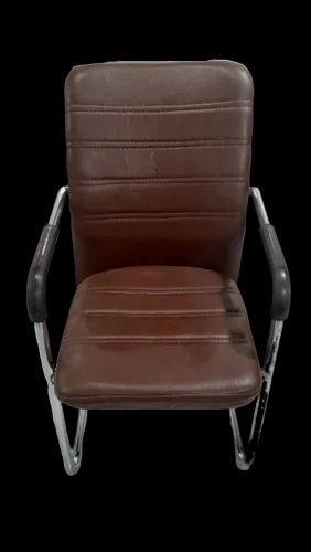 Brown Leatherette Visitor Chair