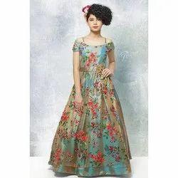 Girls Long Silk Gown