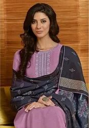 Swagat Sakhi Maslin With Embroidery Work Suits Catalog