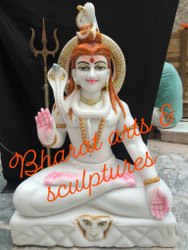 30 Inch Marble Shiva Statue