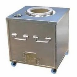 Stainless Steel Square Tandoor Bhatti, For Restaurant
