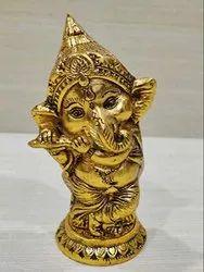 Golden Jaipur Handecor Ganesh Statue, Size: 06x09x16 Cm