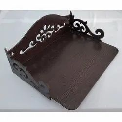 Chocolate Brown Wall Mounted Laser Cutting Stand, For Stationery