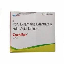 Iron L Carnitine L Tartrate And Folic Acid Tablets