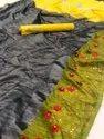 Embroidery Flower Work Saree