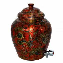 Printed Mr.COPPER Copper Matka Kulfi, Capacity: 6 Liters